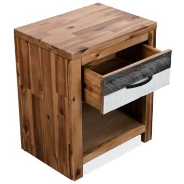 vidaXL Naktinis staliukas, masyvi akacijos mediena, 40x30x48cm[4/7]