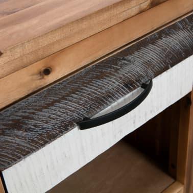 vidaXL Naktinis staliukas, masyvi akacijos mediena, 40x30x48cm[5/7]