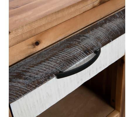 vidaXL Szafki nocne z litego drewna akacjowego, 2 szt., 40x30x48 cm[6/8]