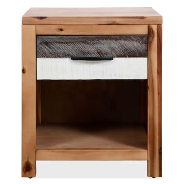 vidaXL Szafki nocne z litego drewna akacjowego, 2 szt., 40x30x48 cm[3/8]