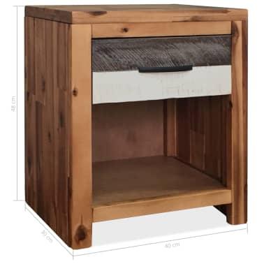 vidaXL Szafki nocne z litego drewna akacjowego, 2 szt., 40x30x48 cm[8/8]