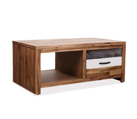 """vidaXL Coffee Table Solid Acacia Wood 35.4""""x19.7""""x14.8""""[1/8]"""