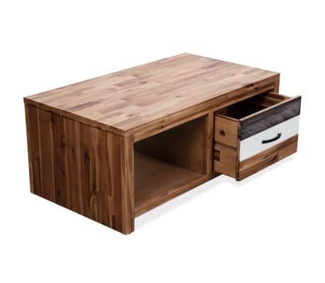 """vidaXL Coffee Table Solid Acacia Wood 35.4""""x19.7""""x14.8""""[4/8]"""