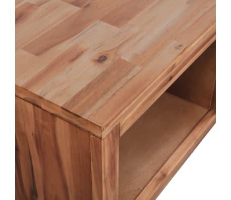 """vidaXL Coffee Table Solid Acacia Wood 35.4""""x19.7""""x14.8""""[6/8]"""