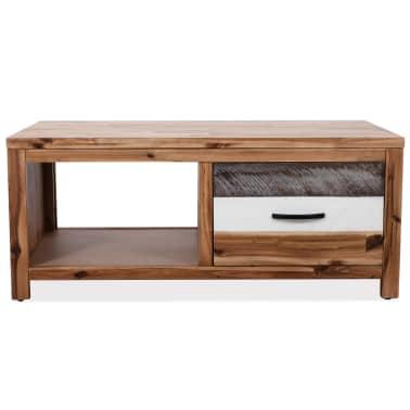 """vidaXL Coffee Table Solid Acacia Wood 35.4""""x19.7""""x14.8""""[2/8]"""
