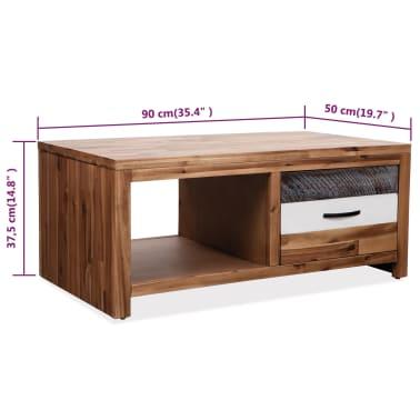 """vidaXL Coffee Table Solid Acacia Wood 35.4""""x19.7""""x14.8""""[8/8]"""