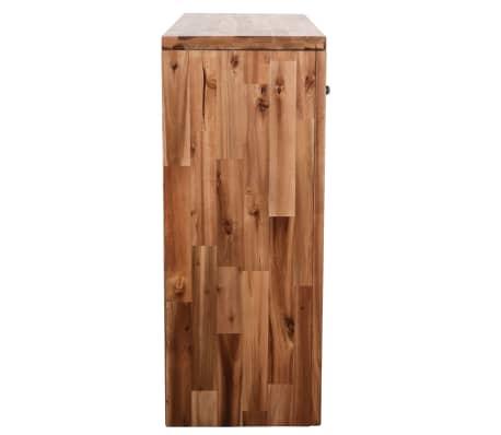 vidaXL Table console Bois d'acacia massif 86 x 30 x 75 cm[3/7]