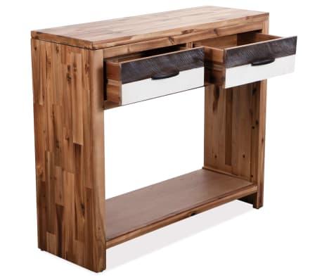 vidaXL Table console Bois d'acacia massif 86 x 30 x 75 cm[4/7]