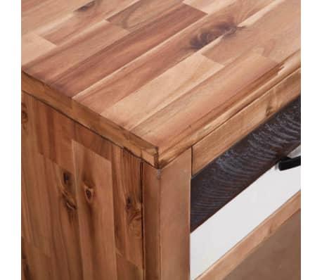 vidaXL Table console Bois d'acacia massif 86 x 30 x 75 cm[6/7]