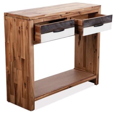 vidaXL Table console Bois d