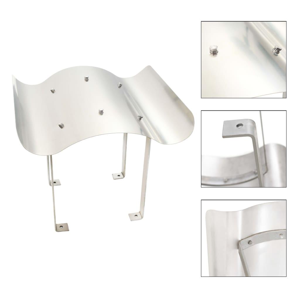 vidaXL Apărătoare de horn, oțel inoxidabil, argintiu imagine vidaxl.ro