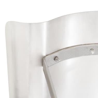 vidaXL Kamino stogelis, nerūdijantis plienas, sidabrinis[5/7]