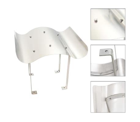 vidaXL Apărătoare de horn, oțel inoxidabil, argintiu[1/7]