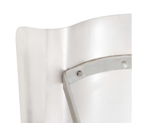 vidaXL Dimniška kapa nerjaveče jeklo srebrne barve[5/7]