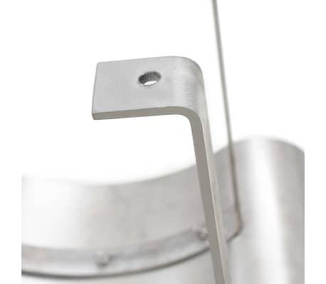 vidaXL Apărătoare de horn, oțel inoxidabil, argintiu[6/7]