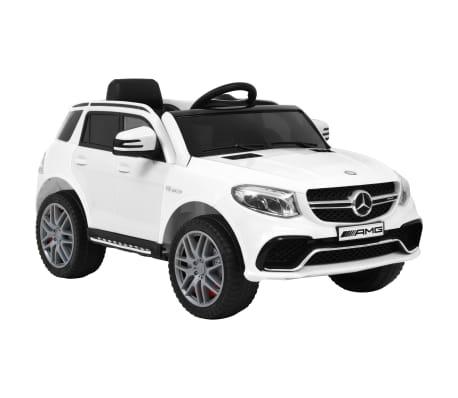 vidaXL Detské autíčko Mercedes Benz GLE63S biele plastové