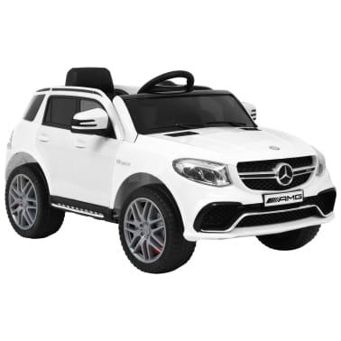 vidaXL Mașinuță copii Mercedes Benz GLE63S, alb, plastic[1/12]