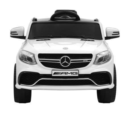 vidaXL Mașinuță copii Mercedes Benz GLE63S, alb, plastic[3/12]