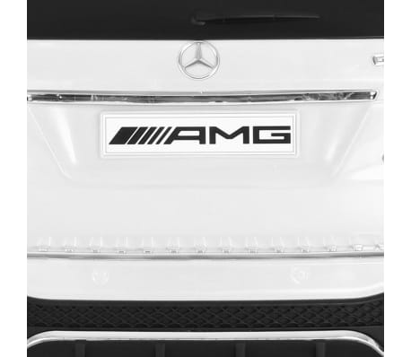 vidaXL Mașinuță copii Mercedes Benz GLE63S, alb, plastic[8/12]
