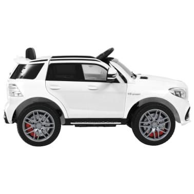 vidaXL Mașinuță copii Mercedes Benz GLE63S, alb, plastic[2/12]