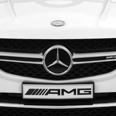 vidaXL Mașinuță copii Mercedes Benz GLE63S, alb, plastic[7/12]