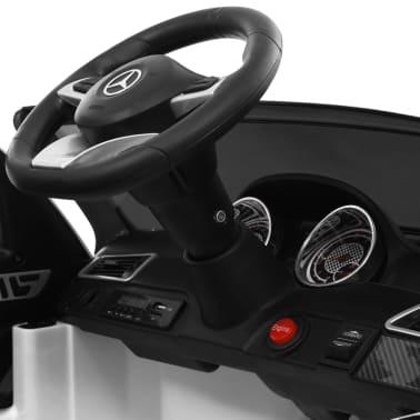 vidaXL Mașinuță copii Mercedes Benz GLE63S, alb, plastic[10/12]