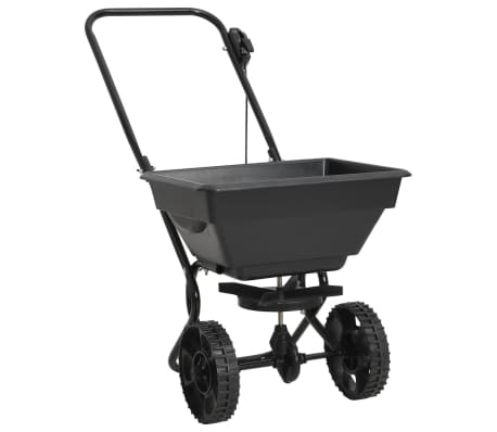 vidaXL Walk Behind Salt Spreader PVC and Steel 92x46x70 cm 15 L