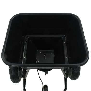vidaXL Vlečni posipalec soli PVC in jeklo 125x74x79 cm 45 L[11/12]