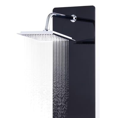 vidaXL Panel ducha de vidrio negro 25x44,6x130 cm[4/9]