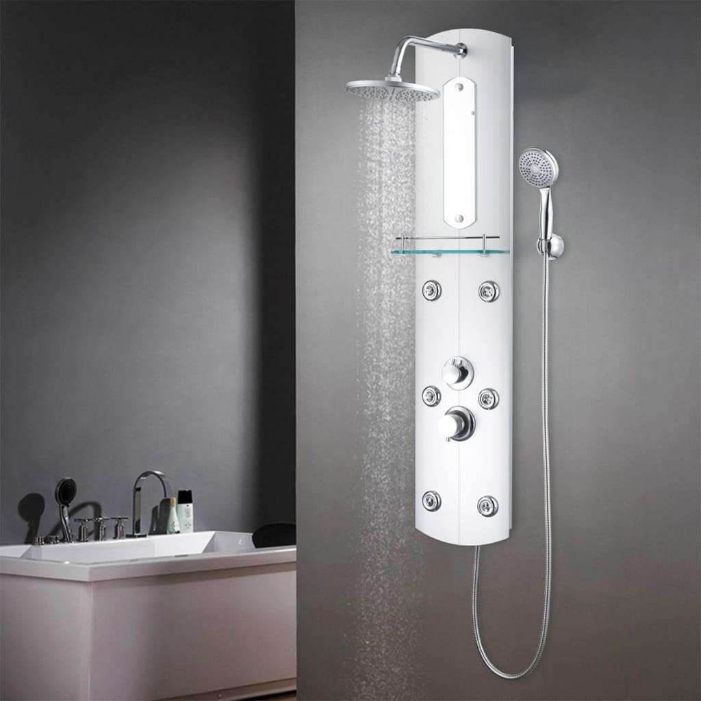 vidaXL Unitate panou de duș, 25 x 43 x 120 cm, argintiu vidaxl.ro