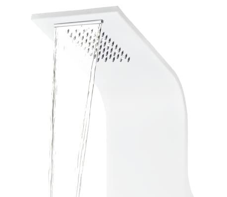 vidaXL Duschpanel aluminium 20x44x130 cm vit[6/11]