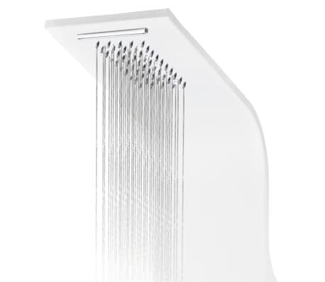 vidaXL Duschpanel aluminium 20x44x130 cm vit[7/11]
