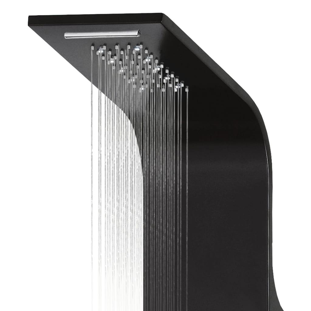 Sprchový panel set hliníkový 20 x 44 x 130 cm černý