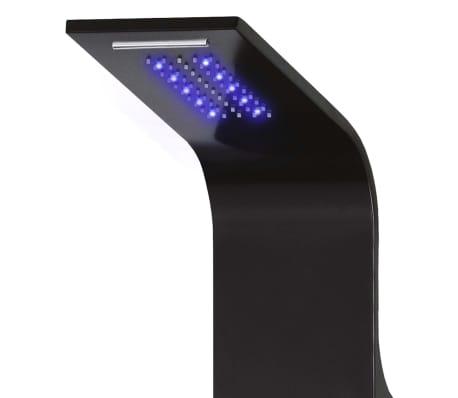 vidaXL Duschpanel aluminium 20x44x130 cm svart[3/11]