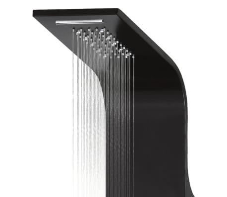 vidaXL Duschpanel aluminium 20x44x130 cm svart[7/11]