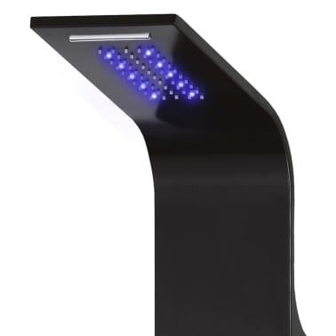 vidaXL Panel de ducha de aluminio 20x44x130 cm negro[3/11]