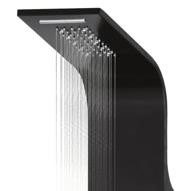 vidaXL Panel de ducha de aluminio 20x44x130 cm negro[7/11]
