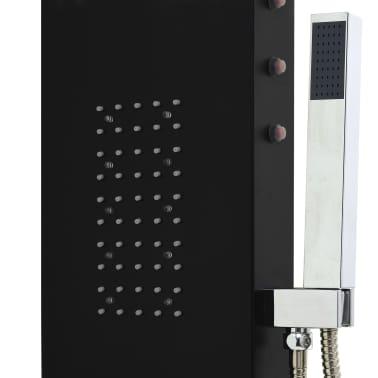 vidaXL Panel de ducha de aluminio 20x44x130 cm negro[8/11]