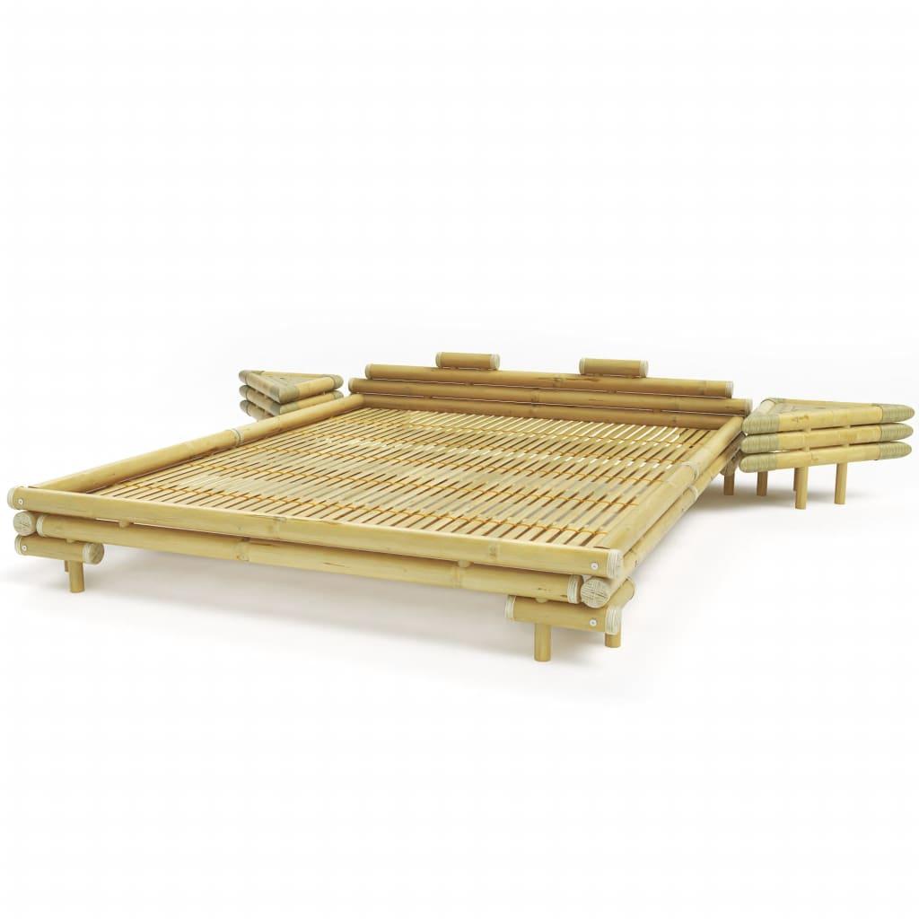 Afbeelding van vidaXL Bed met 2 nachtkastjes bamboe natuurlijk 180x200 cm