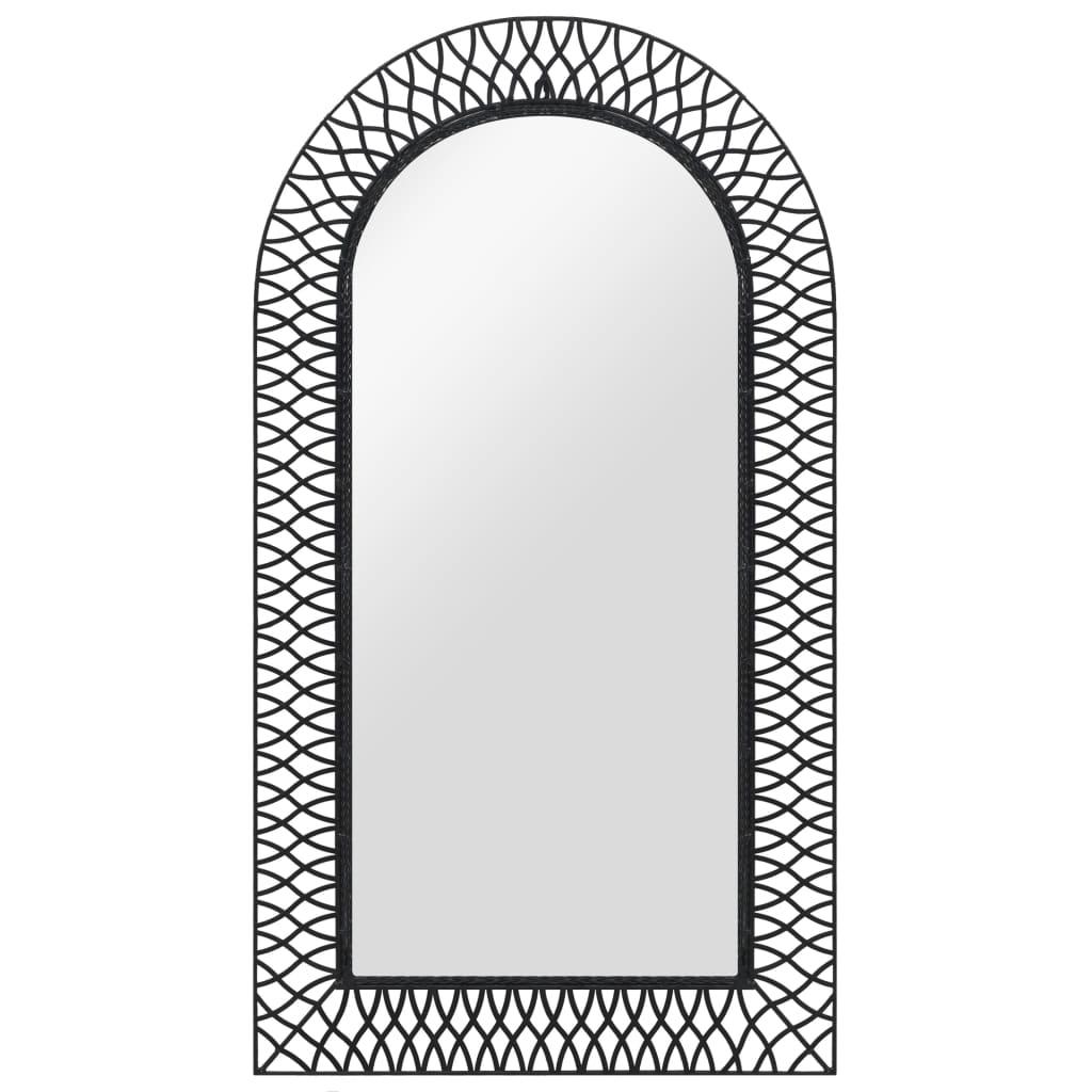 vidaXL Wandspiegel gebogen 60x110 cm zwart