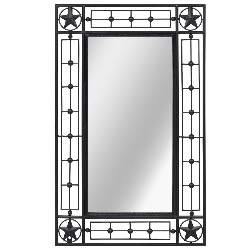 vidaXL Lustro ścienne, prostokątne, 50 x 80 cm, czarne
