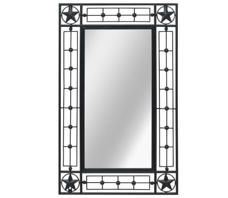 vidaXL Nástěnné zrcadlo obdélníkové 50 x 80 cm černé