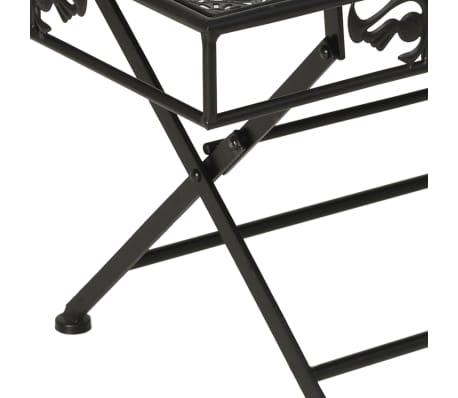 vidaXL Sulank. kavos staliukas, juodas, 100x50x45cm, met., vint. stil.[5/8]