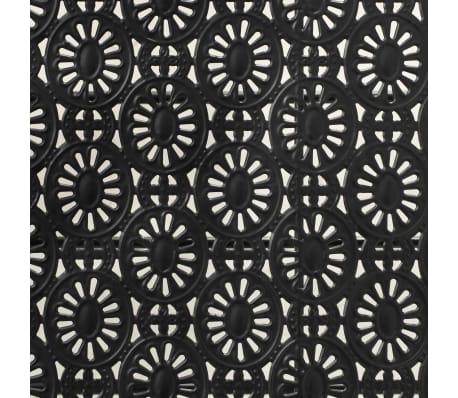 vidaXL Sulank. kavos staliukas, juodas, 100x50x45cm, met., vint. stil.[7/8]