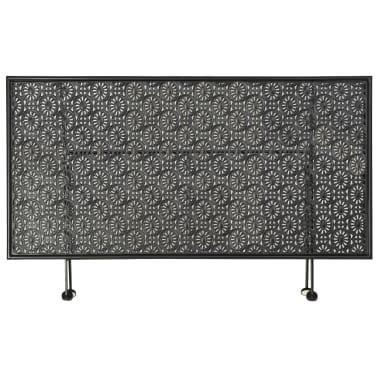 vidaXL Sulank. kavos staliukas, juodas, 100x50x45cm, met., vint. stil.[4/8]