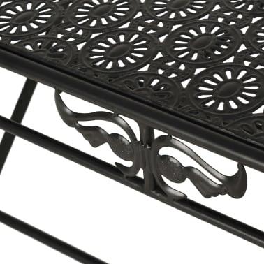 vidaXL Sulank. kavos staliukas, juodas, 100x50x45cm, met., vint. stil.[6/8]