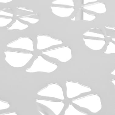 vidaXL Odkládací stolek vintage půlkruhový kovový 72x36x74 cm stříbrný[5/6]