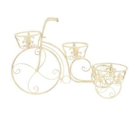 vidaXL Support de plantes sous forme de vélo Style vintage Métal[3/6]