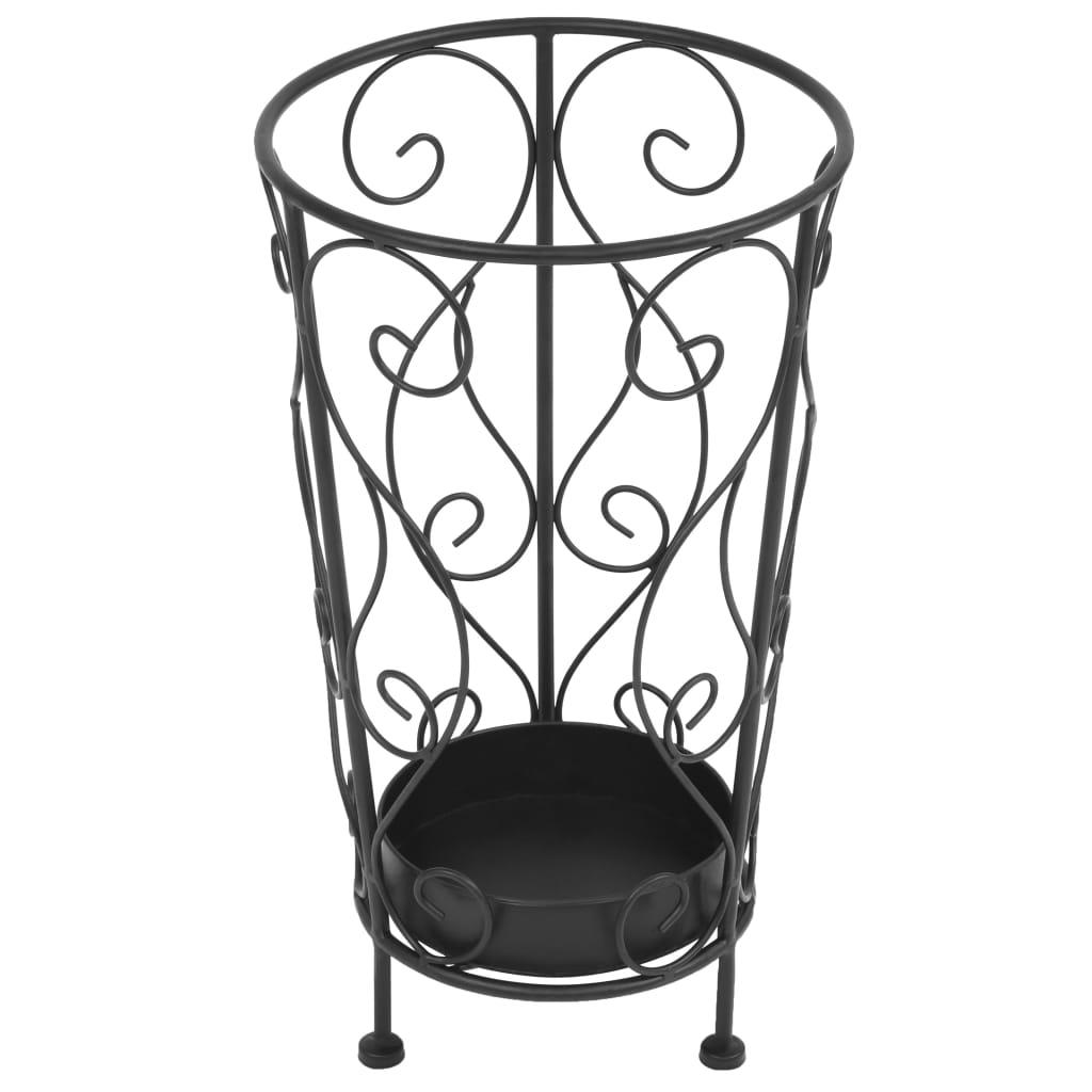 VidaXL Parapluhouder vintage stijl 26x46 cm metaal zwart