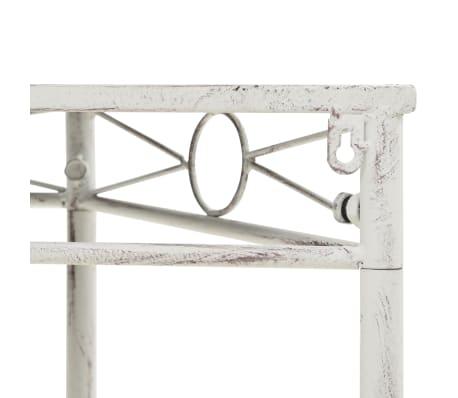 vidaXL Šoninis staliukas, baltos sp., 87x34x73cm, metalas, vint. stil.[4/6]